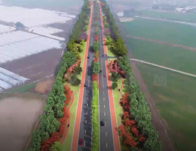 道路无人机航拍与三维beplay体育下载安卓版结合技术-南浦路